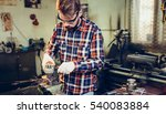 young manual worker working... | Shutterstock . vector #540083884