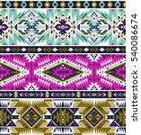 neon colors tribal vector... | Shutterstock .eps vector #540086674