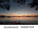 Stock photo sunset on the island of palawan in the reserve el nido karon beach 540087454