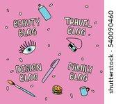hand drawn lettering for... | Shutterstock .eps vector #540090460