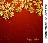 vector christmas new year... | Shutterstock .eps vector #540095590