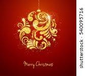 vector christmas new year... | Shutterstock .eps vector #540095716