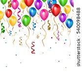birthday balloons background.... | Shutterstock .eps vector #540098488