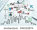 business workplace with... | Shutterstock . vector #540102874
