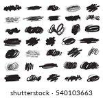 big set of hand drawn ink brush ... | Shutterstock .eps vector #540103663