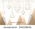 geometric christmas tree and... | Shutterstock .eps vector #540108646