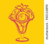 ice cream vector  yellow... | Shutterstock .eps vector #540110890