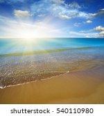beach and sea on sky   Shutterstock . vector #540110980
