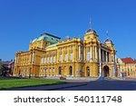 croatian national theater in...   Shutterstock . vector #540111748