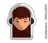 young woman with headset... | Shutterstock .eps vector #540112024