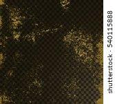 golden texture on transparent...   Shutterstock .eps vector #540115888