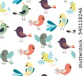 seamless pattern of cute... | Shutterstock .eps vector #540118246