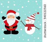 vector illustration of a santa... | Shutterstock .eps vector #540122560