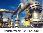 offshore industry oil and gas... | Shutterstock . vector #540123580
