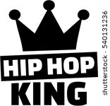 hip hop king with crown | Shutterstock .eps vector #540131236