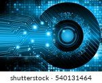 future technology  blue eye... | Shutterstock . vector #540131464