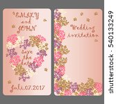 wedding invitation card with... | Shutterstock .eps vector #540133249