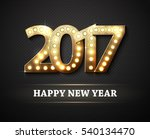 the 2017 new year symbol with... | Shutterstock .eps vector #540134470