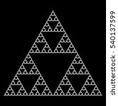sierpinski triangle using... | Shutterstock .eps vector #540137599
