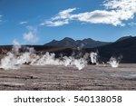 geyser del tatio  san pedro de... | Shutterstock . vector #540138058