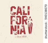 california beach typography... | Shutterstock .eps vector #540138070