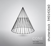 3d vector cone consists of... | Shutterstock .eps vector #540143260