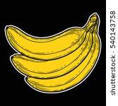 banana fruit  bunch. organic... | Shutterstock .eps vector #540143758