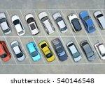 empty parking lots  aerial view. | Shutterstock . vector #540146548