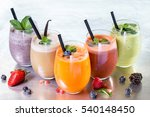 selection of fresh fruit... | Shutterstock . vector #540148450