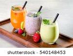 selection of fresh fruit... | Shutterstock . vector #540148453