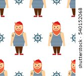 cute nautical pattern with... | Shutterstock .eps vector #540152068