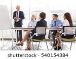 business coach holding training ... | Shutterstock . vector #540154384