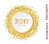 circle with gold glitter... | Shutterstock .eps vector #540158293