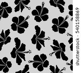 hand drawn floral texture  gray ... | Shutterstock .eps vector #540158869