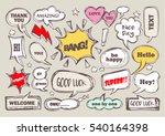 set of speech bubbles with... | Shutterstock .eps vector #540164398