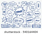 set of speech bubbles with... | Shutterstock .eps vector #540164404