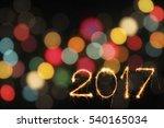 happy new year 2017 written... | Shutterstock . vector #540165034