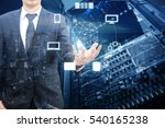 double exposure of professional ... | Shutterstock . vector #540165238