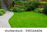 garden stone path with grass... | Shutterstock . vector #540166606