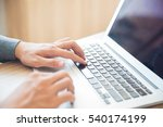 close up of male hands typing... | Shutterstock . vector #540174199