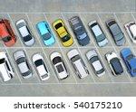 empty parking lots  aerial view.   Shutterstock . vector #540175210