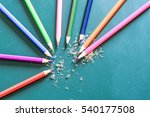 colorful pencil | Shutterstock . vector #540177508