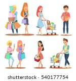 shopping character design | Shutterstock .eps vector #540177754