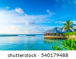 beautiful water villas in... | Shutterstock . vector #540179488
