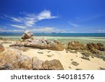 tropical island with beautiful... | Shutterstock . vector #540181576