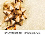 Golden Ribbon Bow With Little...