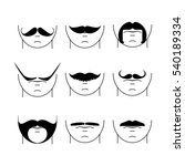 big set of vector hipster...   Shutterstock .eps vector #540189334