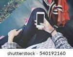 woman using smart phone   Shutterstock . vector #540192160