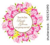 romantic invitation. wedding ...   Shutterstock . vector #540192490