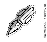 pencil draw utensil icon vector ... | Shutterstock .eps vector #540194740